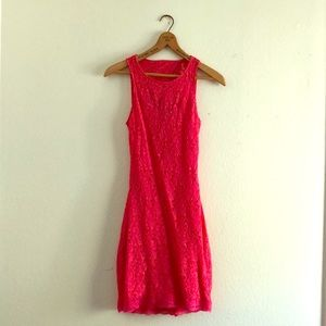 Hot Coral Cocktail Dress